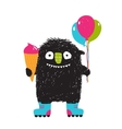 Kids Fun Monster with Ice-cream Balloons Roller vector image