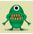 Green cute monster vector image