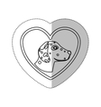 monochrome contour with middle shadow sticker with vector image