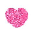 heart finger print vector image