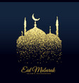 beautiful mosque made with glitters background vector image