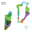 Abstract color map of Belize vector image
