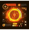 Hud Interface Orange vector image