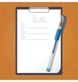 Tablet with List of doing and the pencil vector image