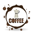 Coffee design breakfast conceptl white vector image