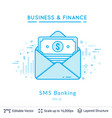 bank message symbol on white vector image