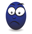 emotions eggs coloured worried vector image