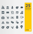 Finance and banking icons set vector image
