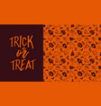 halloween banner with text and pattern vector image