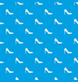 high heel shoe pattern seamless blue vector image