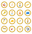 repair and construction working tools icon circle vector image