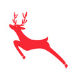 running red reindeer icon vector image
