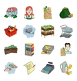 Supermarket set icons in cartoon style Big vector image