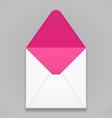 white pink violet purple blank envelope vector image