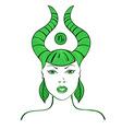 Zodiac sign of Capricorn vector image