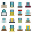 window forms icons set in flat style vector image