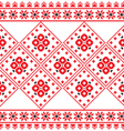 Ukrainian Eastern European folk art pattern vector image