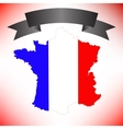 Map of France and Black Ribbon vector image