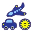 Patches - set for kids vector image