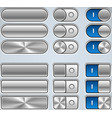 Metal Buttons And Switchers vector image vector image