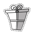 gift box ribbon give party linea shadow vector image