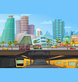 miami downtown metro rail poster vector image