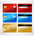 Realistic credit cards set vector image
