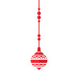 red christmas decoration icon vector image
