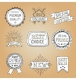 Set of hand drawn style badges and elements vector image