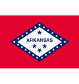 Arkansan state flag vector image vector image