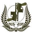 The icon with two Mauser vector image vector image