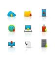 Internet download symbols icons set vector image vector image