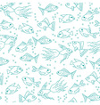 Fish in water seamless pattern vector image vector image