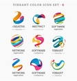 Set of trendy abstract vibrant and colorful icons vector image vector image