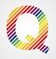 Alphabet Letter Q vector image