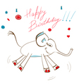 gift card with elephant vector image vector image