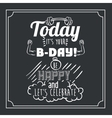 happy birthday design vector image