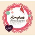 Design of Scrapbook icons design vector image