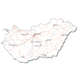 Hungary Black White Map vector image
