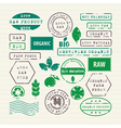 set of ecology healthy food and environment vector image