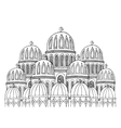 Abstract Mosque Sketchy hand drawn vector image