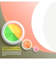 Abstract 3D circle vector image