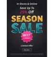 Banner Season Sale on black vector image
