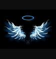 blue angel wings vector image