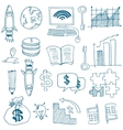 Doodle of business image stock collection vector image