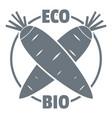 eco bio vegetables logo simple style vector image