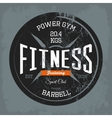 Gym or gymnasium fitness training print on shirt vector image