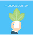 hydroponic system concept vector image