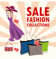 sale fashion collection vector image