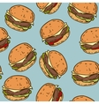 Seamless Pattern with Tasty Burger vector image